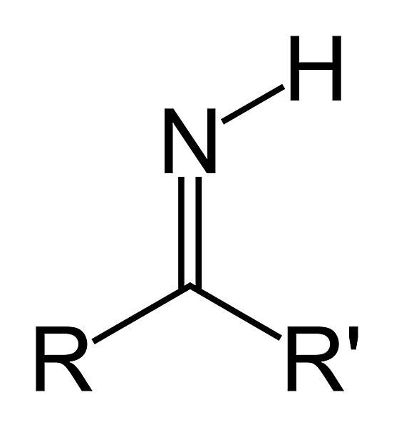 The formula of the primary ketimine group is RC(=NH)R'. This is a type of primary imine.