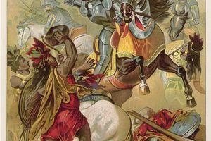 A painting of Spanish conquistador Hernando Cortez, (1485-1547), circa 1500.