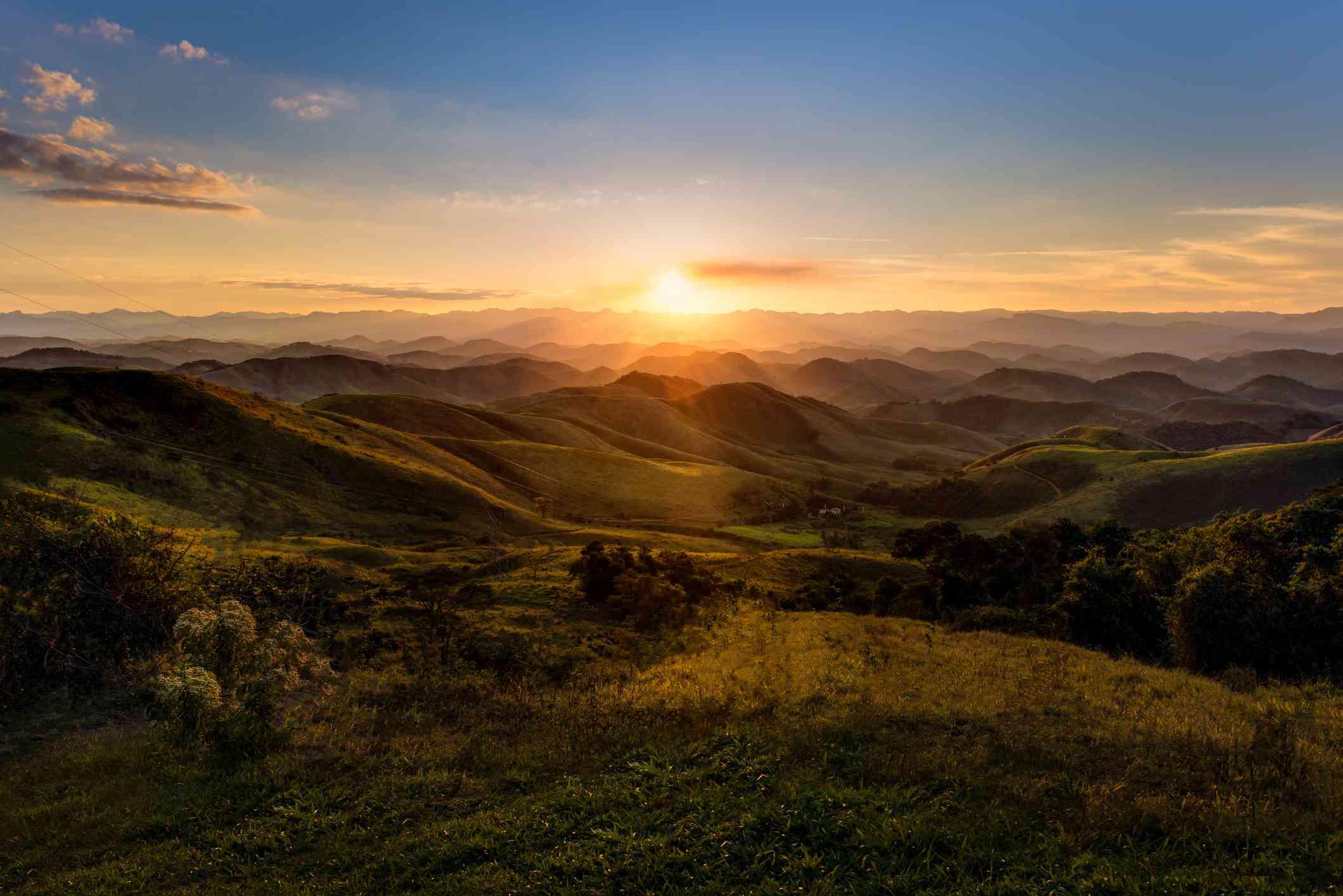 Sunset in Serra da Beleza mountains, between Rio de Janeiro and Minas Gerais states
