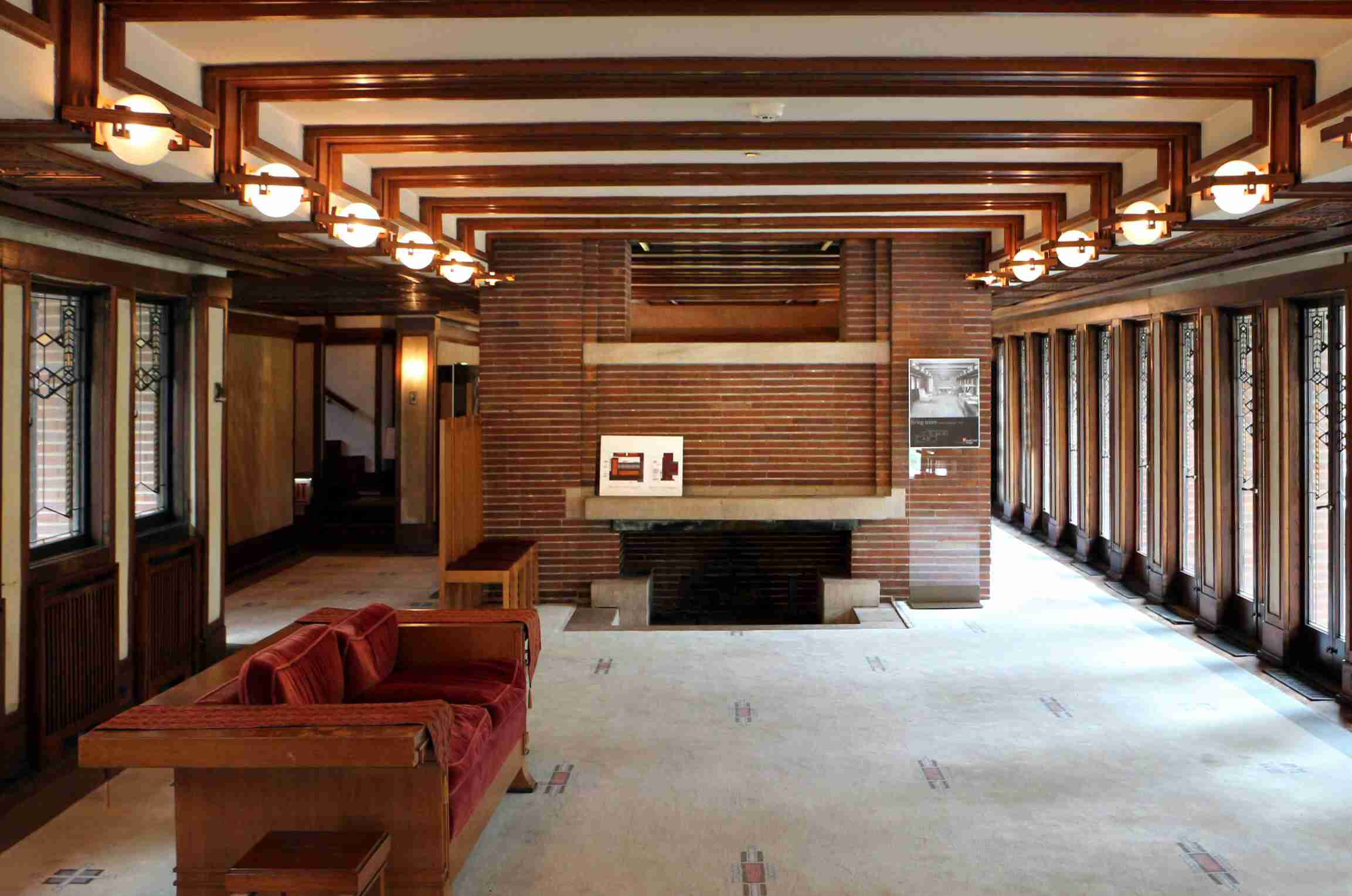 Wright's Architecture of Space and Interior Designs