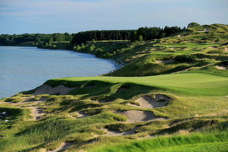 Third hole at Whistling Straits golf course