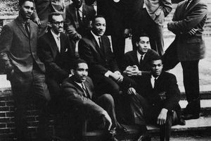MLK with members of SNCC