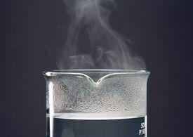 Vapor forming in a beaker