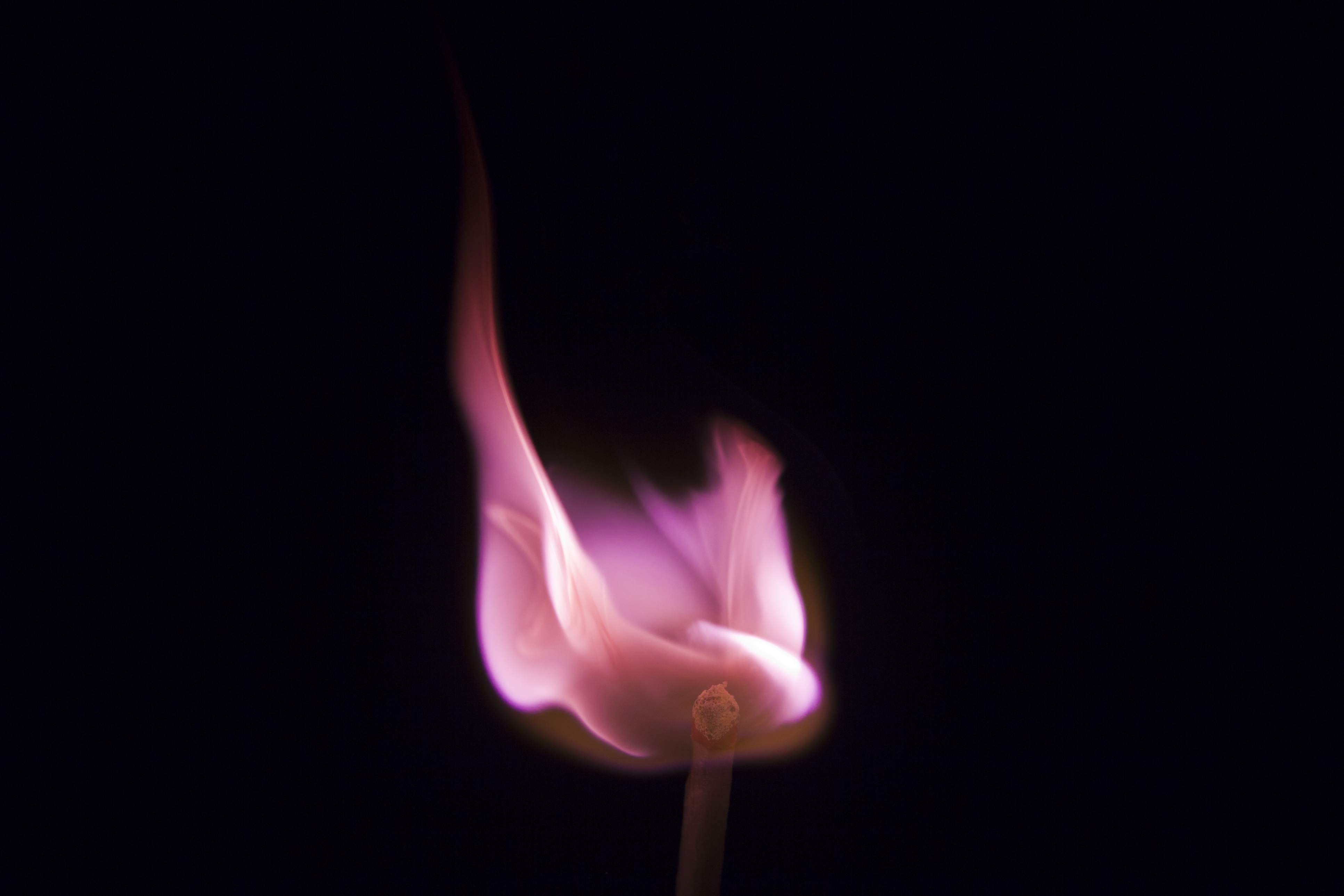 Lithium salts turn a flame hot pink to magenta