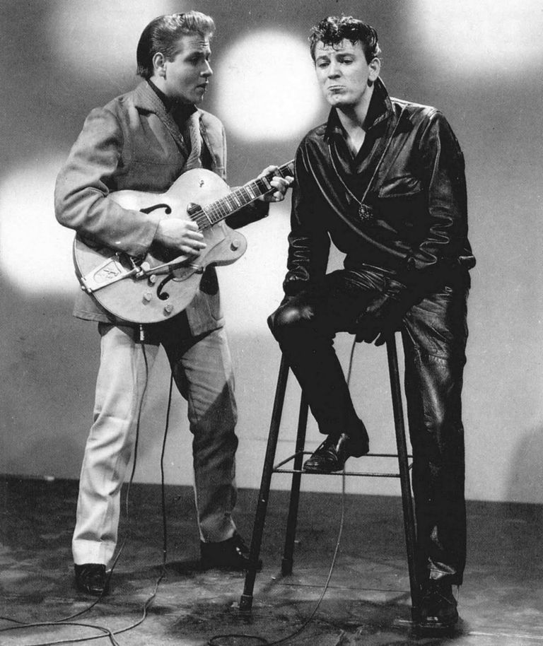 Gene Vincent and Eddie Cochran
