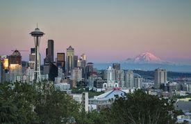 USA, Washington State, Belt of Venus in Seattle