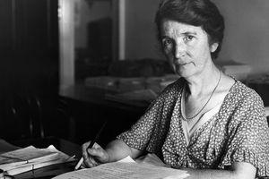Margaret Sanger Seated at Desk