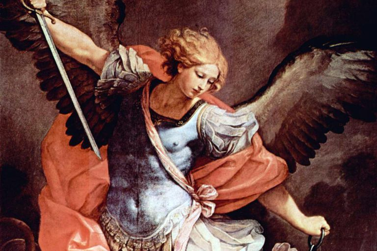 Archangel Michael painting by Guido Reni (1636).