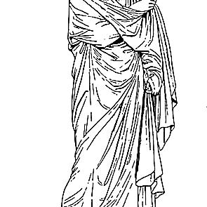 Woman Wearing the Palla
