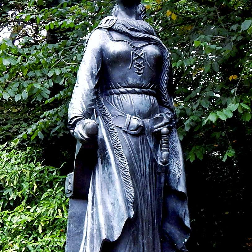 Grace O'Malley Statue at Westport House, County Mayo