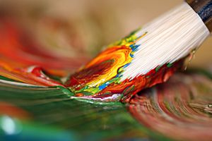 colorful paint brush