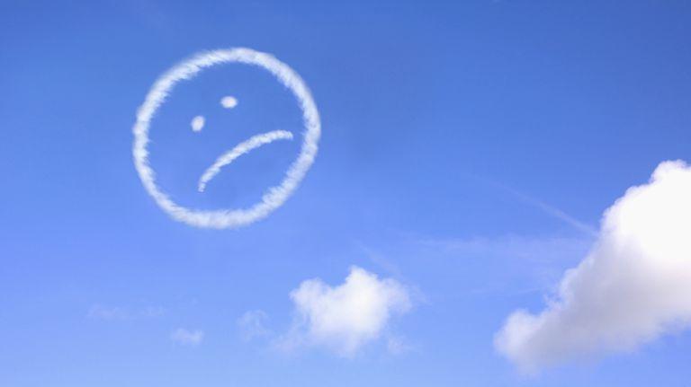 clouds shaped like sad face