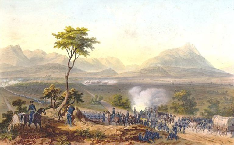 Fighting near Monterrey, 1846