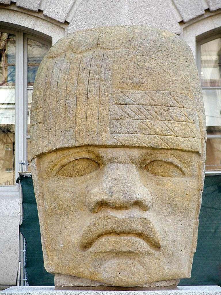 Olmec head, DeYoung Museum, San Francisco
