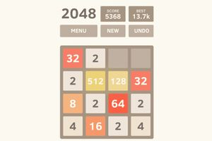 Screenshot of 2048 by Gabriele Cirulli game for Android