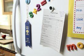 Failing Report Card on Refrigerator
