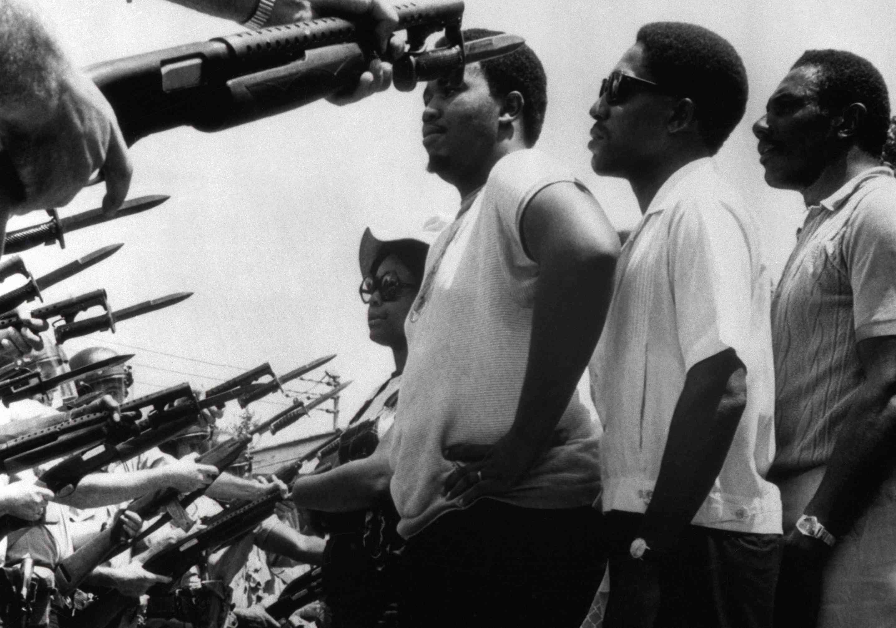 Civil Rights Marchers Facing Bayonets