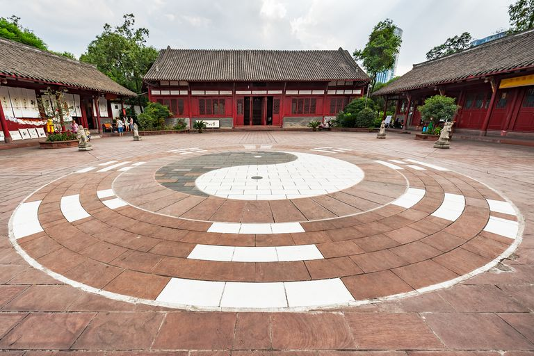 Ying-yang-made-of-stone-at-taoist-temple