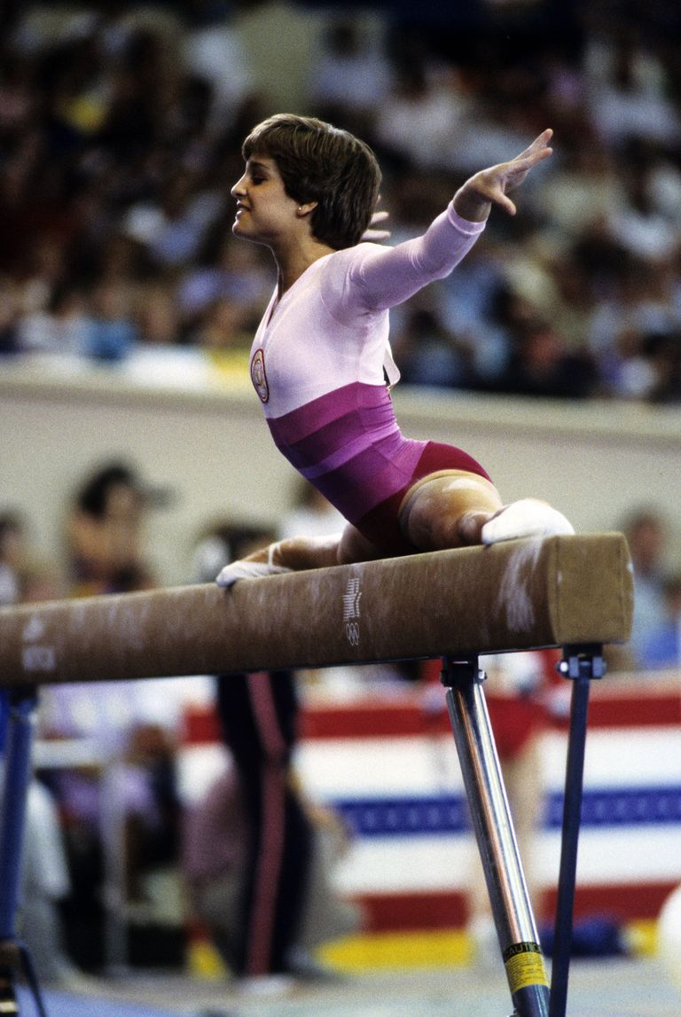 Mary Lou Retton during the 1984 Olympics