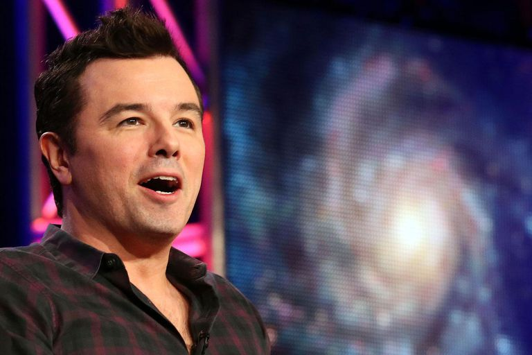 Executive producer Seth MacFarlane speaks during the FOX portion of the 2014 Television Critics Association Press Tour at the Langham Hotel on January 13, 2014 in Pasadena, California.