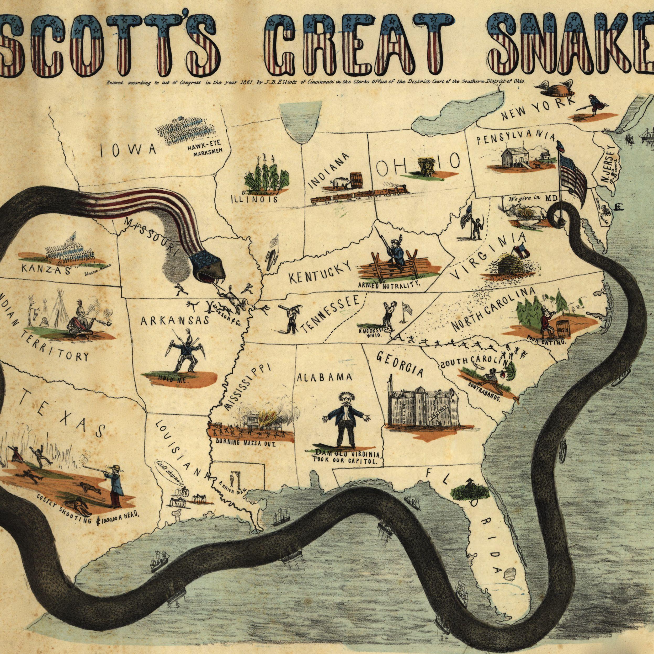 The Anaconda Plan of 1861: Early Civil War Strategy