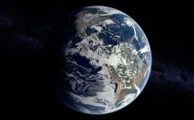 Earth View Overlooking South America