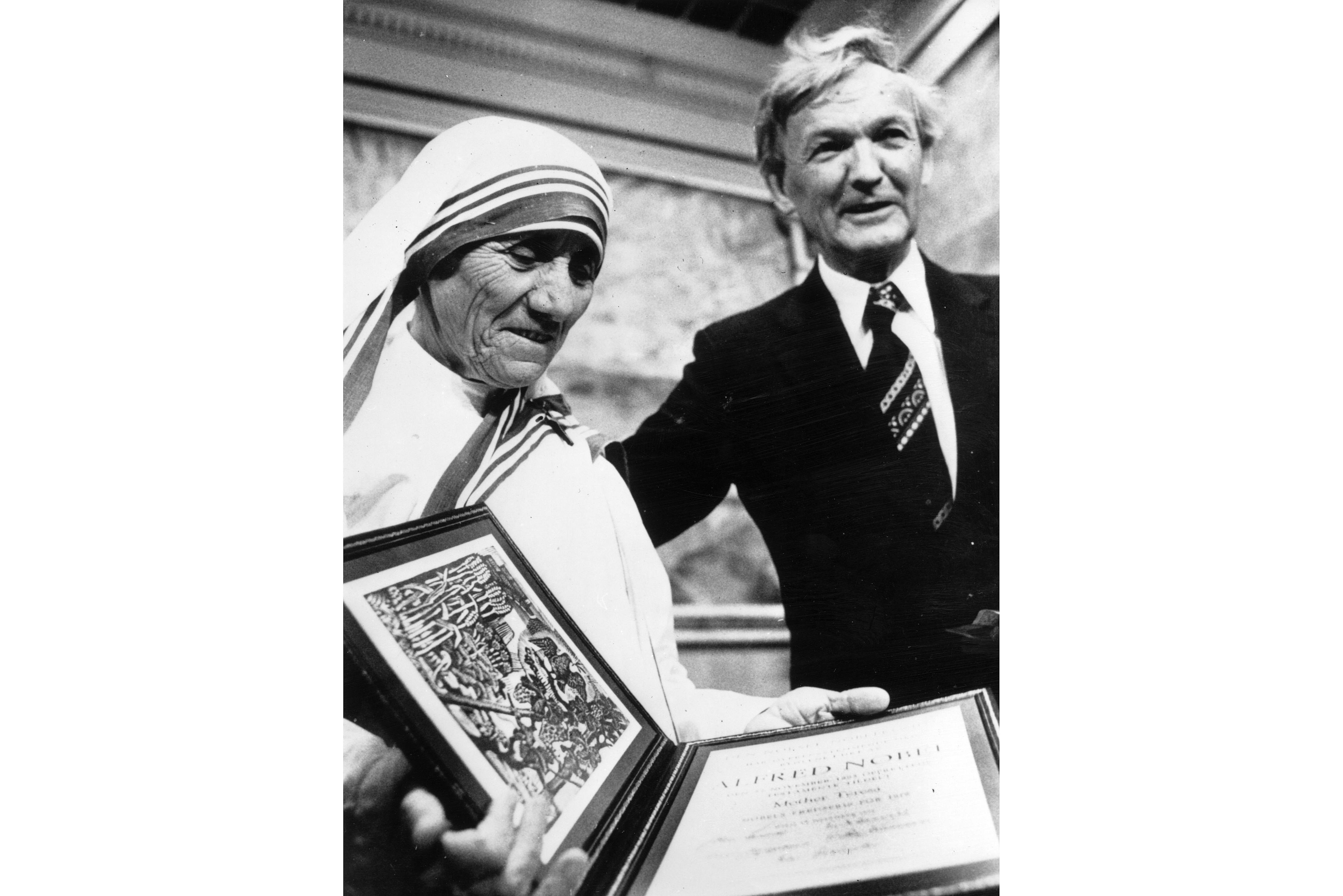 Mother Teresa Receiving The Nobel Peace Prize December 1979