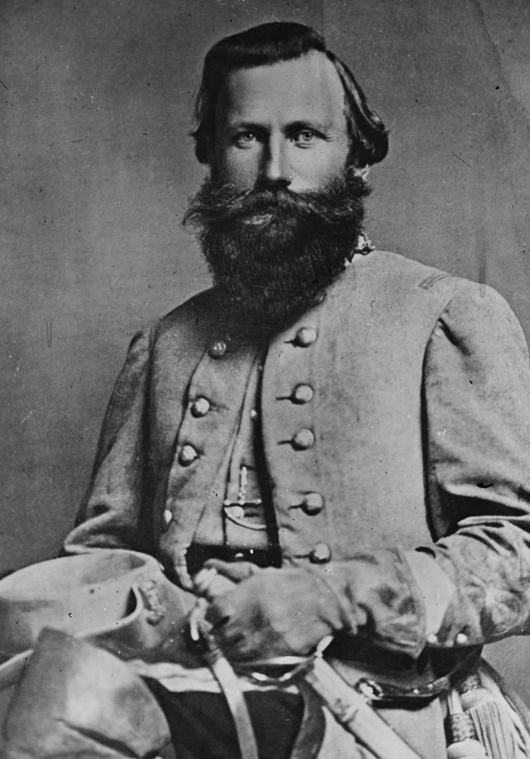 Confederate cavalry commander, General J.E.B. Stuart