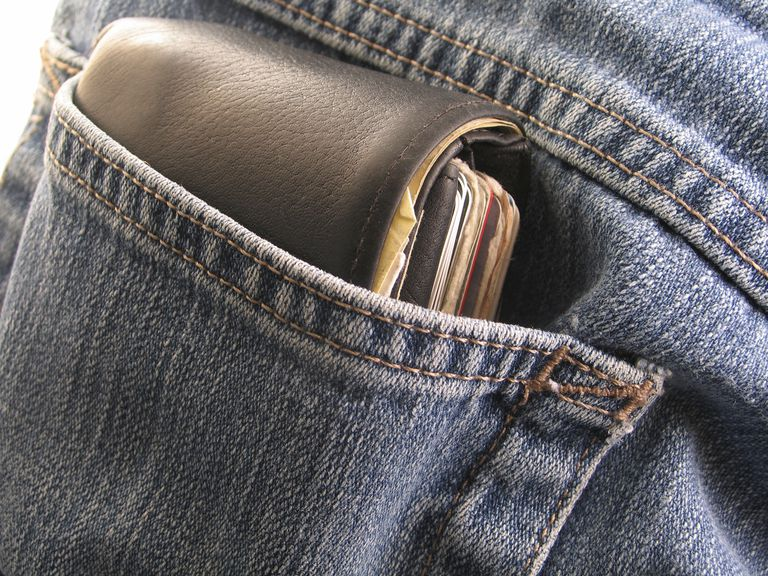 Wallet in back pocket of jeans