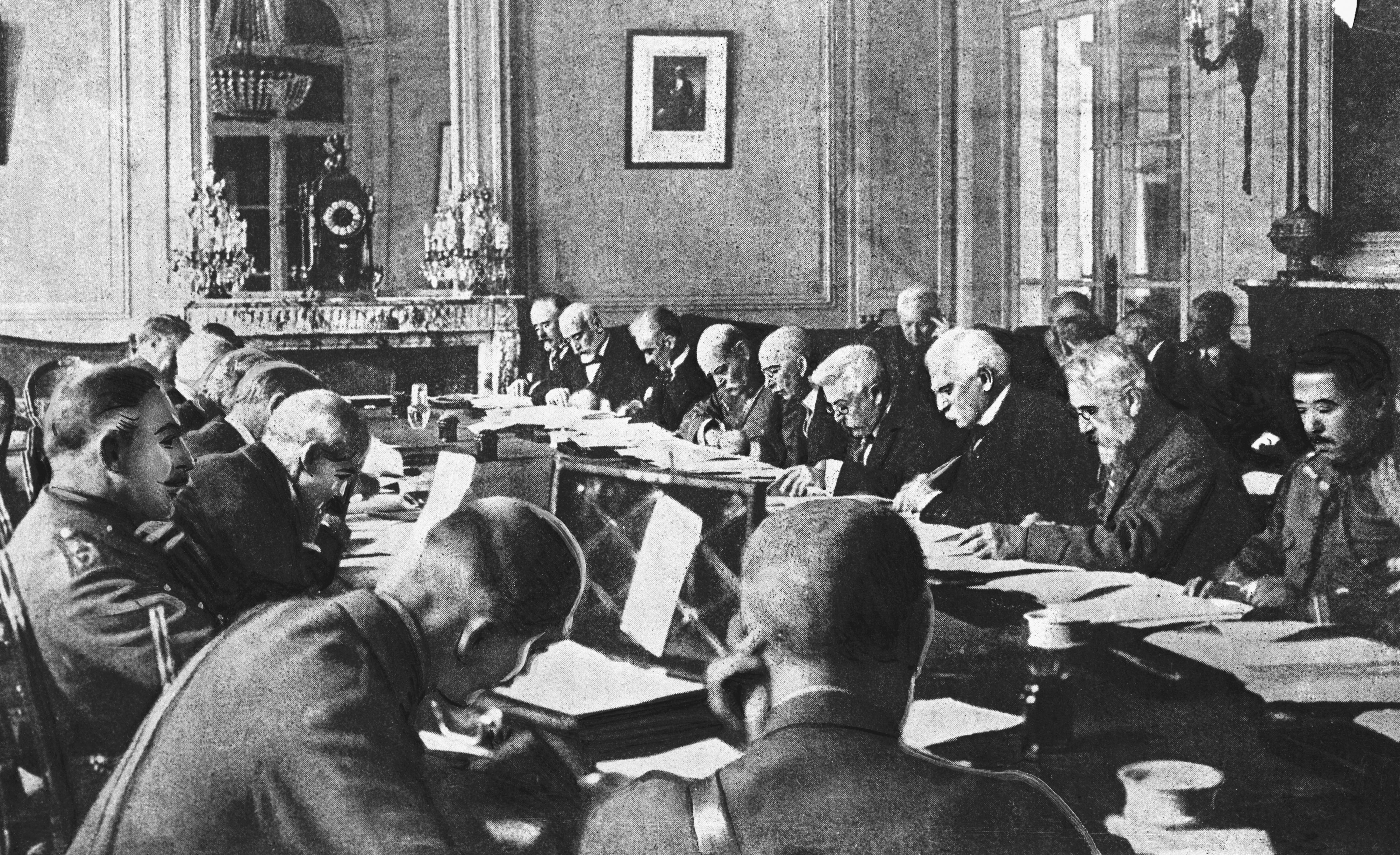 Government Officials Drafting the Terms of the Treaty of Versailles.
