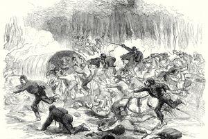 Illustration of retreat at Bull Run in 1861