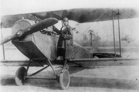 Bessie Coleman on airplane