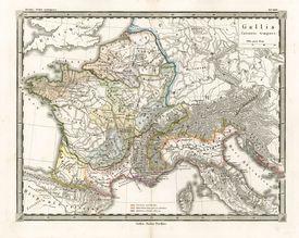 An Antique Map of Gaul