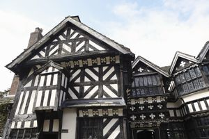 Half-timbered Little Moreton Hall, Cheshire