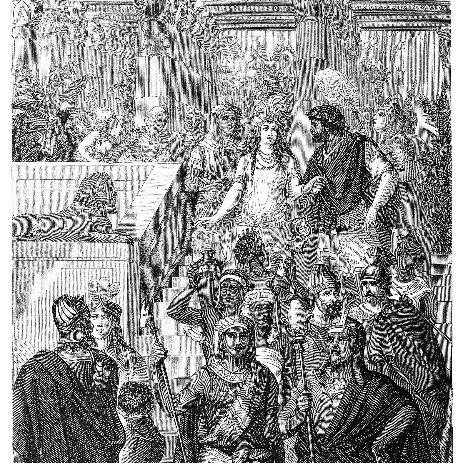 Cleopatra VII Philopator, known as Cleopatra, Last pharaoh of Ancient Egypt with Mark Antony in the first Century BC