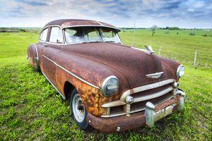Rusty vintage Chevrolet