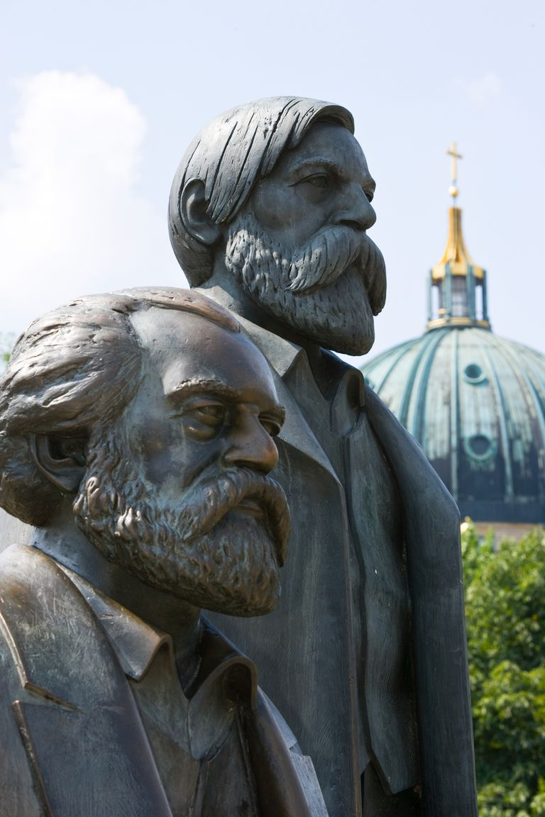Statue of Karl Marx and Friedrich Engels, Berlin, Germany