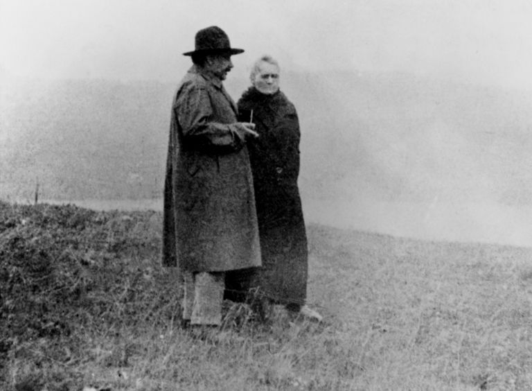Albert Einstein and Marie Curie