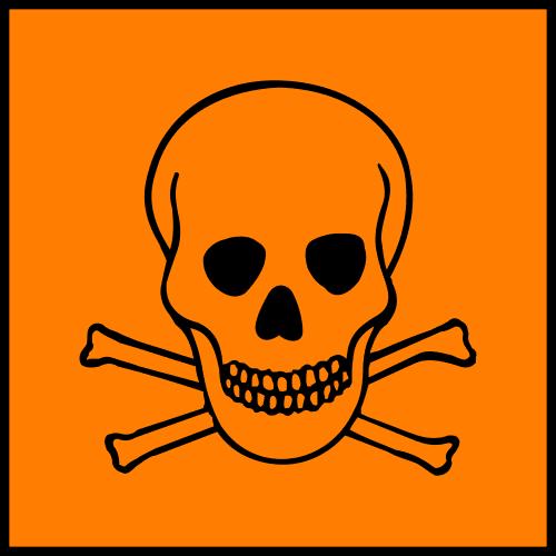 Lab safety symbol, hazardous materials