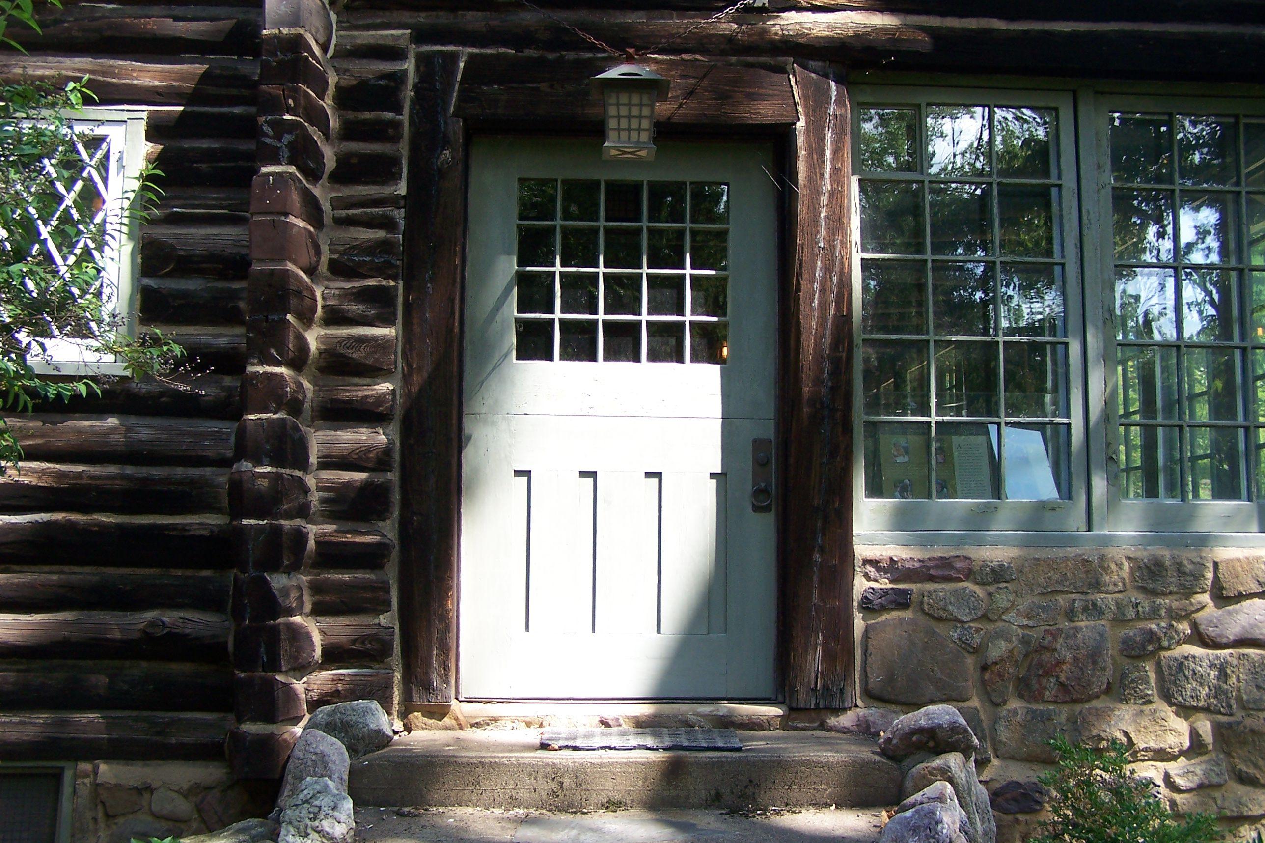 Craftsman Farms Log House Door Detail, Home of Gustav Stickley 1908-1917, in Morris Plains, New Jersey