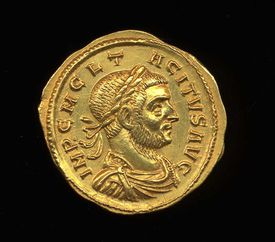 Tacitus - obverse side of coin