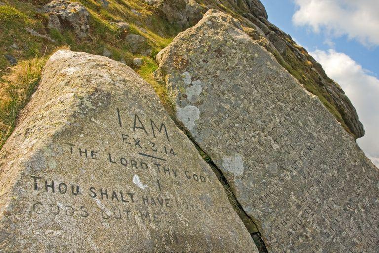 Ten commandment stones on Dartmoor National Park