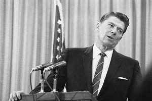 Ronald Reagan at a podium