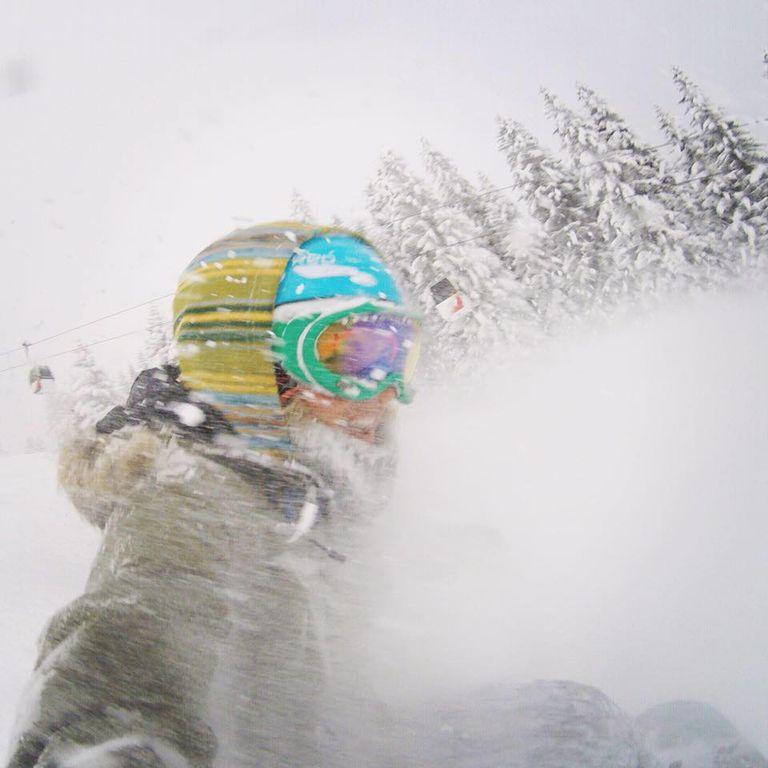 Powder selfie in Switzerland