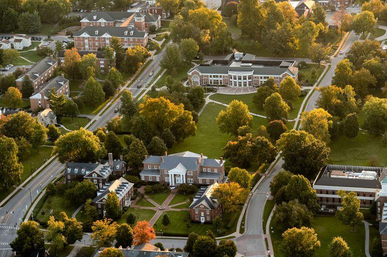 Aerial photo of Centre College