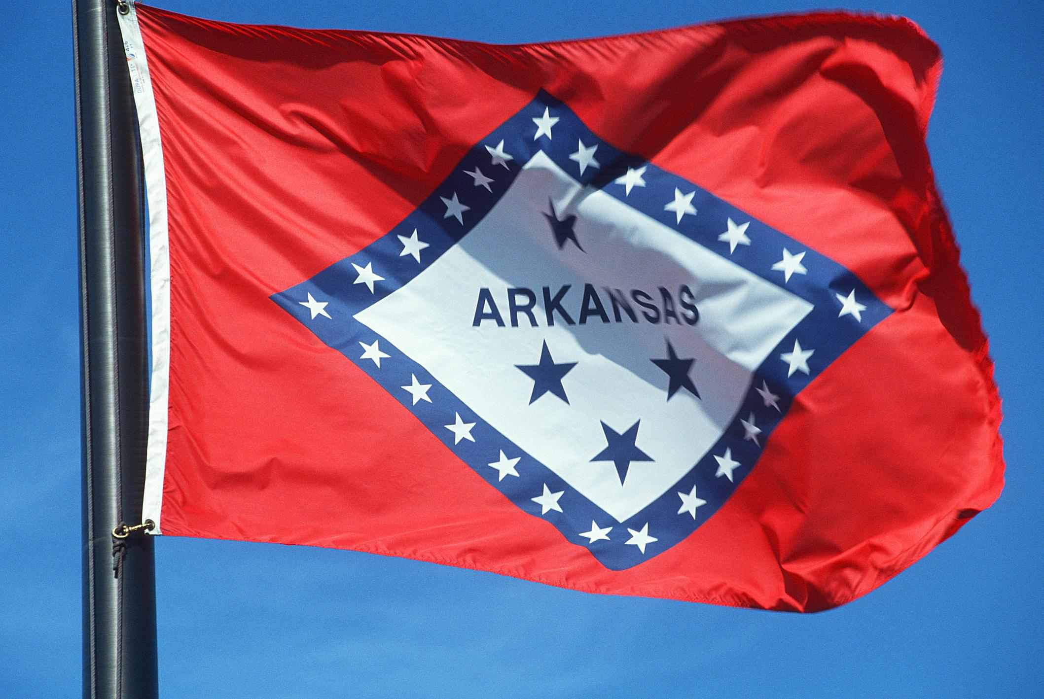 Arkansas flag - Fotosearch - GettyImages-124279641