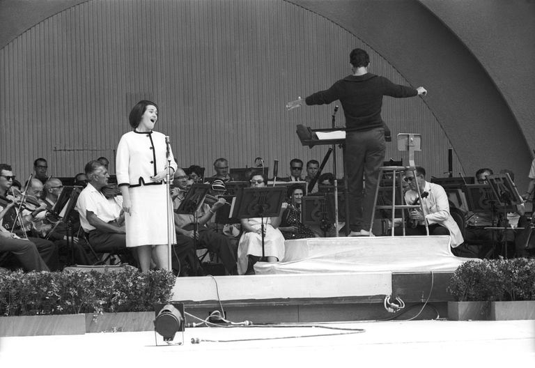 Joan Sutherland onstage at the Hollywood Bowl.