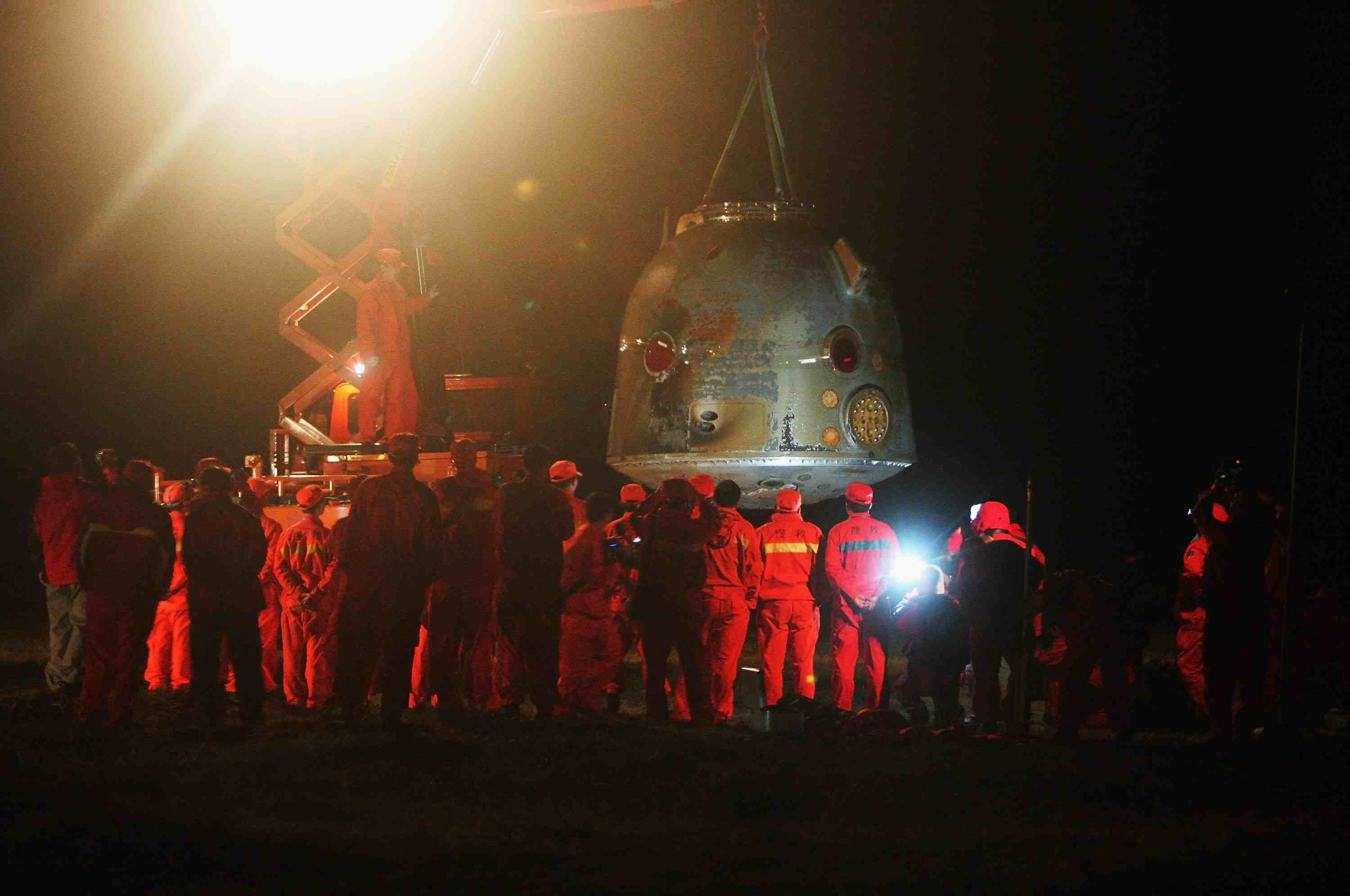 China's Shenzhou VII Spacecraft Returns To Earth