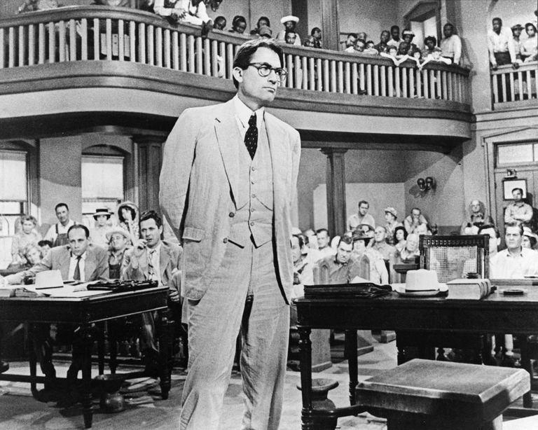 Atticus Finch in the court roomm
