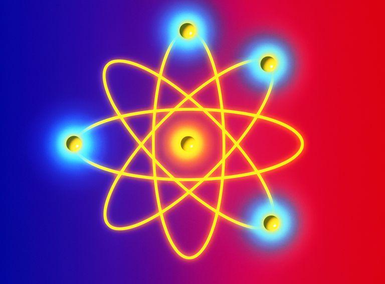 Computer graphic of a Beryllium atom.